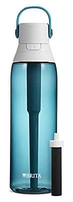Brita Plastic Water Filter Bottle, 26 Ounce, Sea Glass