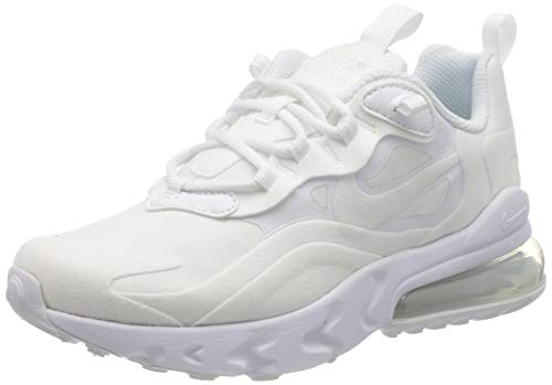 Nike Jungen AIR MAX 270 React (GS) Laufschuh, White White MTLC Silver White, 39 EU