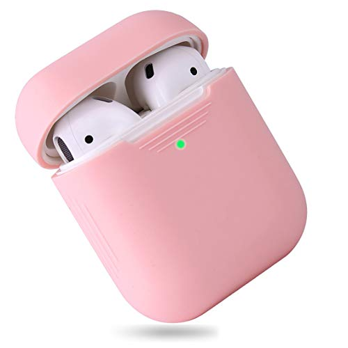 EYEKOP AirPods Case, Premium Ultra-Thin Soft Skin Cover Compatible with Apple AirPods 2 & 1 - Light Pink