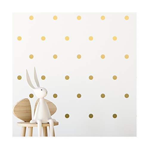 Gold Polka Dot Wall Decals - calcomanías de pared de lunares dorados - apliques de niñas pegatinas de decoración de puntos circulares 112 adornos de dormitorio de arte