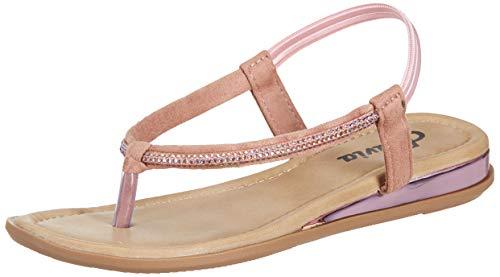 Flavia Women's Nude Fashion Sandals-7 UK (39 EU) (8 US) (FL/232/NUD)