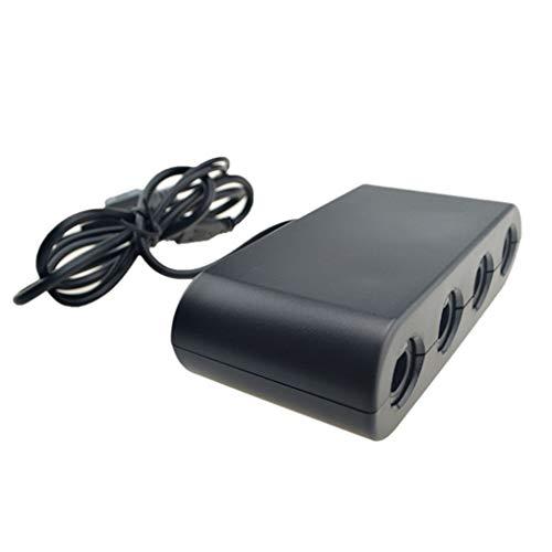 worahroe Reemplazo para Wii U Switch PC USB 2 2 en en 1 Controlador Gamecube 4 Port Black Console Gamepad Adaptador