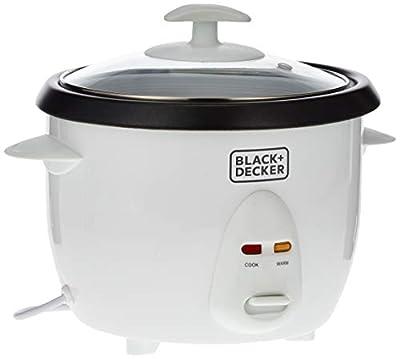Black & Decker RC1050 350W 1 L 4.2 Cup Rice Cooker (Non-USA Compliant), White