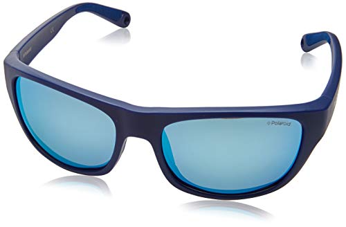 Polaroid PLD 7030/s Sunglasses, FLL/5X Matte Blue, 60 Mens