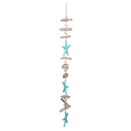 Beachcombers Driftwood Starfish Coastal Drop Beach Decor Ocean Decoration Teal