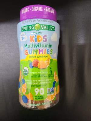 SPRING VALLEY Organic Kids MULTIVITAMIN Gummies,90 Count