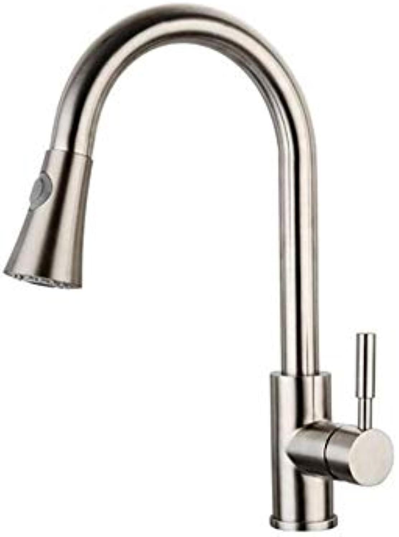 Küche Bad Wasserhahnedelstahl-Ausziehbarer Intelligenter Berührungssensor-Küchenhahn