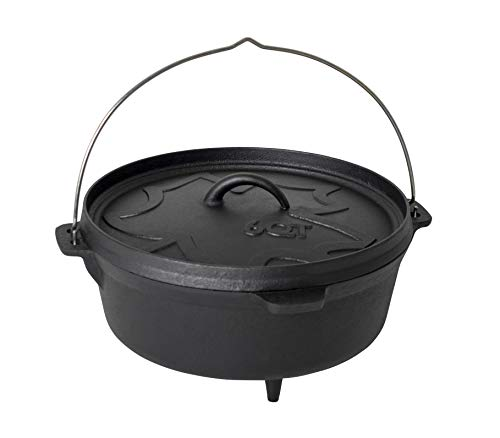 Bo-Camp Urban Outdoor Urban Outdoor Dutch Oven-6QT-Gusseisen, Schwarz