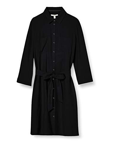 ESPRIT Damen 030EE1E310 Kleid, 001/BLACK, 38