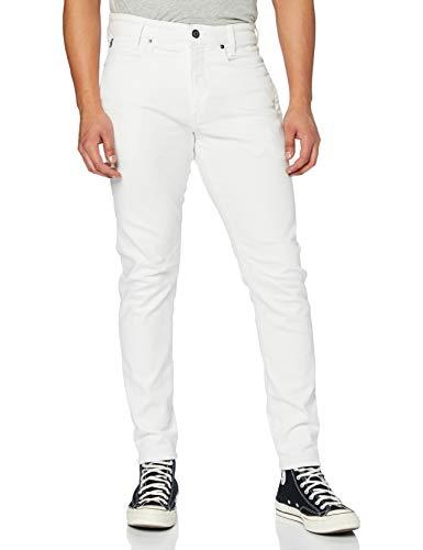G-STAR RAW D-STAQ 3D Slim Jeans Vaqueros, Blanco (White C267-110), 34W / 34L para Hombre