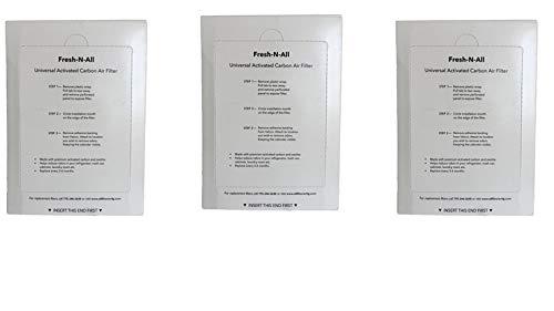 Fresh-N-All Refrigerator Deodorizer - Fridge and Freezer Odor Eliminator - Outperforms Baking Soda (3 Pack)