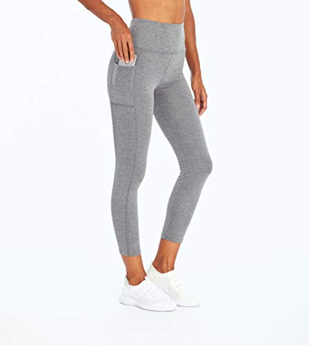Bally Total Fitness High Rise Pocket Ankle Legging, Heathered Charcoal, Medium