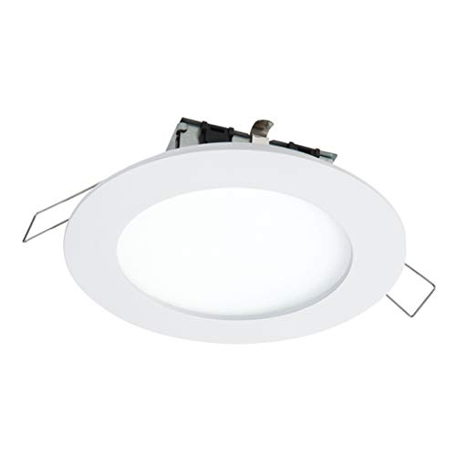 HALO SMD4R6950WHDM SMD-Dm Lens Round Integrated Led Surface Mount Recessed Downlight Trim, 5000K Daylight, (No Can Needed), 4.85 In, White