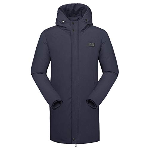 Heizung Baumwollkleidung, Smart Heizung Kleidung Winter USB Ladeheizung Heizung Anti-Kalt-Dicke Heizjacke Royal Blue-XL