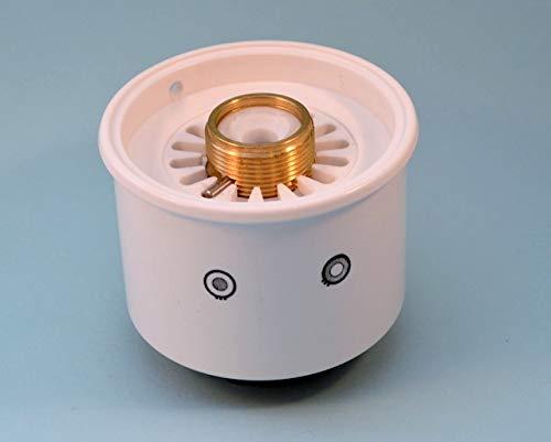 TEUCO soffione doccia bianco verticale per braccio doccia art.1000 rubinetteria Teuco serie Quadra.