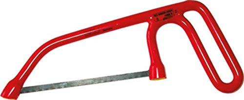 Sicutool, herramientas aisladas según las normas VDE, arcos para sierras. Tipo de barril de acero y cuchillas intercambiables. Para hojas de 150 mm de longitud.