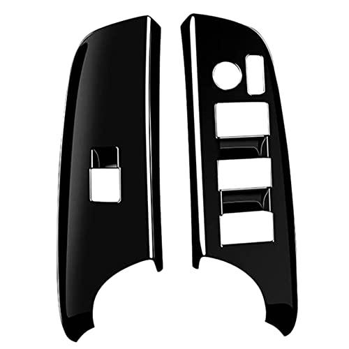 YIYIO Cubierta Decorativa del Interruptor de ElevacióN de la Ventana del Panel del Interruptor de Cristal de la Ventana del Coche para Sienta 170 Series 15-21 RHD Negro
