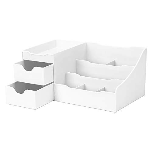 Subsky Organizer per trucco da tavolo, tavolo da trucco Organizer per trucco Contenitore di gioielli per cosmetici multifunzionale in plastica Trucco per cassettiera, camera da letto, bagno