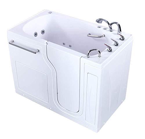 Aqua Acrylic 52'x30' Walk In Tub with Fast Fill 3/4' Faucet, 2' Drain Right