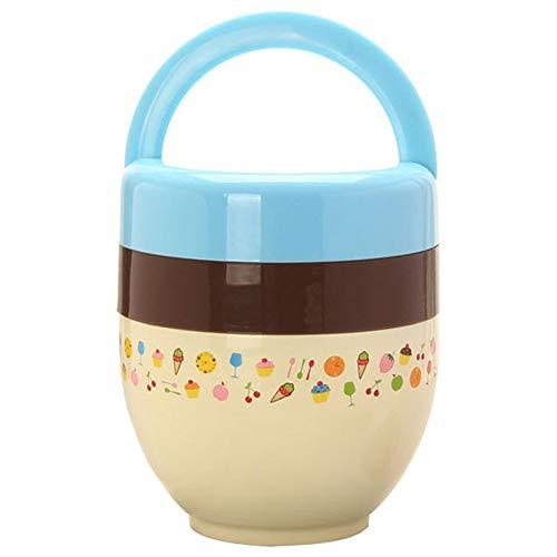Shhjjpy Kinder Geïsoleerde Lunch Box Kleine Draagbare 2 Laag Lekvrije Trompet Super Lange Baby Isolatie Vat, 550ML