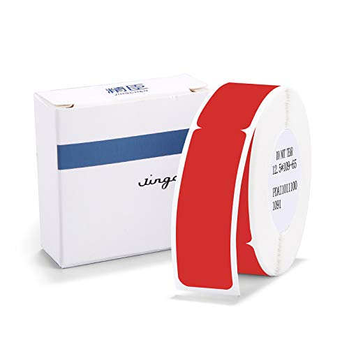 """Label Maker Tape NIIMBOT D11 0.5""""4.3"""" Adapted Cable Label Print Paper Standard Laminated Office Labeling Tape Replacement for D11 Handheld Label Machine Waterproof Tear Proof 1 Roll 65 Pcs (Red Cable)"""