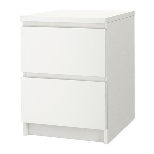 IKEA 2 Drawer Dresser Nightstand (White)