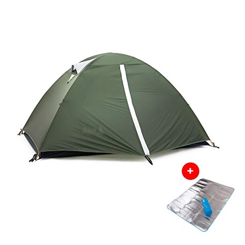 LH Afneembare Twee Persoon Dubbele deur Lichtgewicht Tent en Voetafdruk - waterdicht, Perfect voor Backpacking, Kayaking, Camping en Bikepacking met Vochtdicht pad