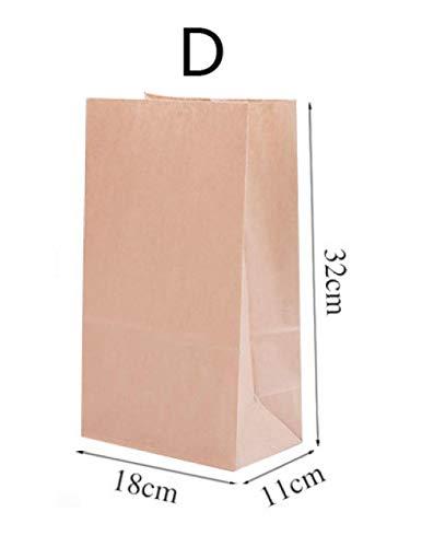 5~100 * broodzak, kraftpapier verpakkingstas, papieren zak voor voedsel, zak met vierkante bodem