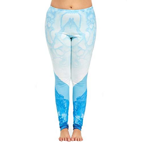 BurBurly vrouwen Plus Size Lange Sport Leggings Digitale afdrukken hardlooppanty's Hoge taille Stretch Fitness Yoga Broek