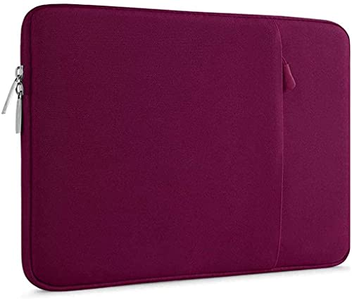 Gahwa Funda Ordenador Portatil 14 Pulgadas, Bolsa pc Portátil Impermeable Anti-rasguños Antigolpes, Funda 14-15 Pulgadas Acolchada per Laptop/Notebook/MacBook/Chromebook - Vino Tinto