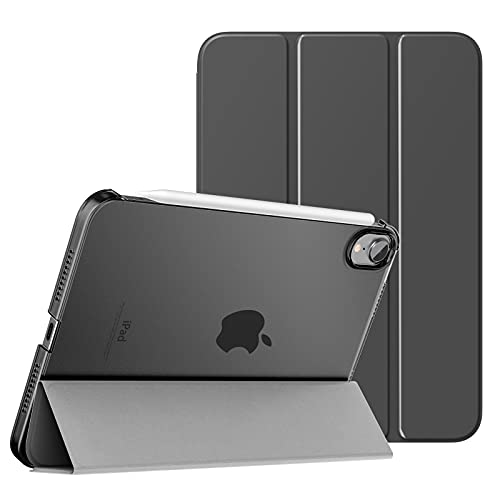 MoKo Case Fit New iPad Mini 6 2021 (6th Generation, 8.3-inch) - Slim Lightweight Hard Clear Back Shell Stand Cover with Translucent Frosted...