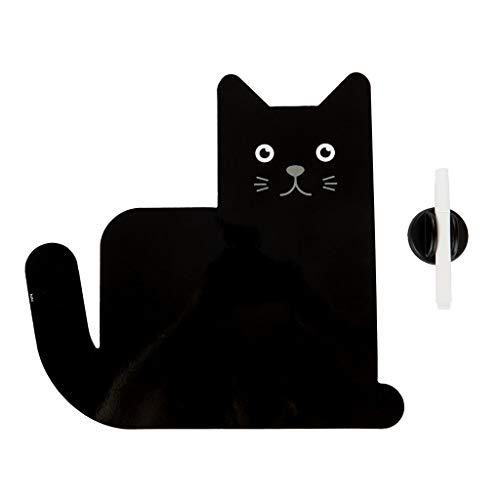 Balvi Pizarra Nevera magnética Meow Color Negro Soporte de Planificación Ideal para recordatorios, Lista de la Compra, tareas del hogar y Notas Importantes Plástico PP