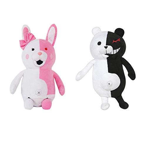 SGOT Danganronpa Monomi Plüschtier Puppe, Kawaii Kaninchen Plüsch, Monokuma Schwarz und Weiß Bär( 2 STK)