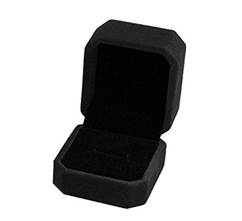 Dosige Etui à Bijoux Boîte à Bijoux en Flanelle Coffrets à Cosmétique Femme Boîte de Rangement de Bijoux - Noir