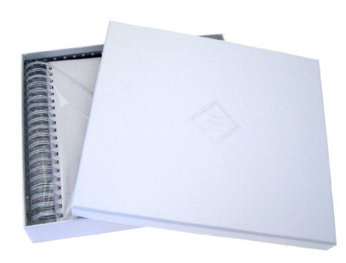 White Cotton Cards Naming Day carte mémoire livre (lapin/bleu Balloon)