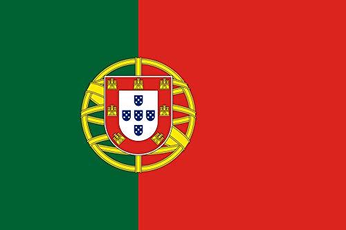 KiipFlag Bandera Portugal Bandeira de Portugal Bandeira Portuguesa, Color Vivo y Resistente a la Decoloración UV, Cabecera de Lona y Doble Costura, Poliéster con Ojales de latón, 150 X 90 cm