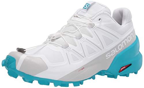 SALOMON Women's Speedcross Competition Running Shoes, White (White/White/Bluebird), 6.5 UK