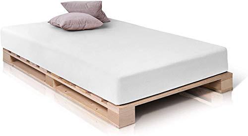 Palettenbett Massivholzbett Holzbett Bett aus Paletten mit 11 Leisten