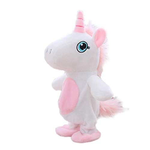 Product Image of the Moving and Talking Unicorn Toys Repeats What You Say Interactive Plush Toys Cute...