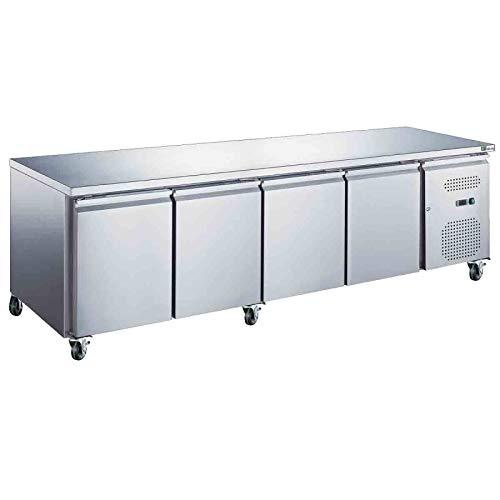 Table centrale réfrigérée positive - 4 portes