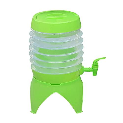 HUANGDAN Cubo de Agua Plegable Portador de Agua portátil para Acampar con Grifo Cubo para automóvil Cubo Cerveza para Bebidas Campamento Pesca Escalada Picnic Barbacoa Viajes Uso al Aire Libre