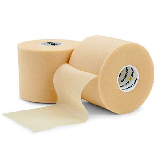 SPORTTAPE Soft Foam Unterverband Tape 7 cm x 27 m - Pre Wrap Pre Tape - Nicht klebender Schutzschaum M Wrap Alternative - Einzelrolle