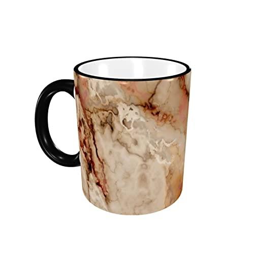 Taza de café con borde de mármol, taza de cerámica, taza de té, taza de café, taza de café, regalo para hombres y mujeres, trabajo de oficina