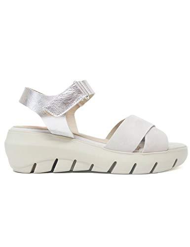 Sandalias Planas para Mujer Fluchos F0839 Cristal Plata