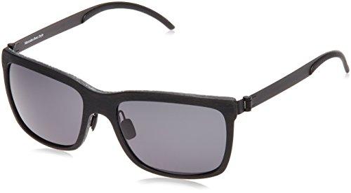 Mercedes-Benz Sonnenbrille M3019 Rechteckig Sonnenbrille 58, Schwarz