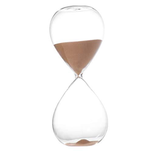 BESPORTBLE Reloj de arena con temporizador, de cristal trans