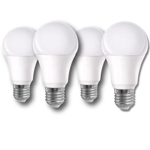 PATABIT 4X Lampadine Led E27 Luce Naturale 4000K   Kit Lampade Led E27 Composto Da Due 9W 800 Lumen E Due 12W 1100 Lumen Attacco E27 Luce Naturale 60x115 mm Durata 15000H 220V (Promo Pack 4pz 4000k)
