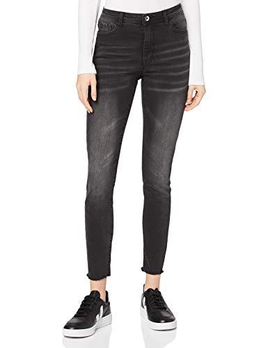 Marchio Amazon - find. Jeans Skinny a Vita Alta Donna, Nero (Nero), 38W / 32L, Label: 38W / 32L
