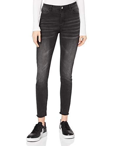 Marchio Amazon - find. Jeans Skinny a Vita Alta Donna, Nero (Nero), 38W / 32L, Label: 38W / 32L