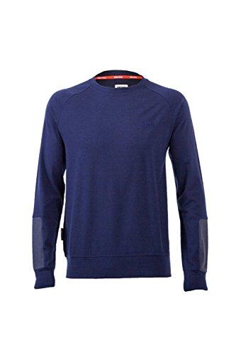 Mons Royale Jersey Crew T-Shirt Manches Longues mérinos pour Homme XL Gris - Charcoal/Navy